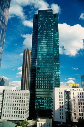 Stock Photo: 1344-922 Low angle view of skyscrapers in a city, La Defense, Paris, France