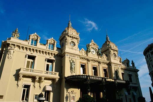 Stock Photo: 1344-974 Low angle view of a casino, Monte Carlo Casino, Monte Carlo, Monaco
