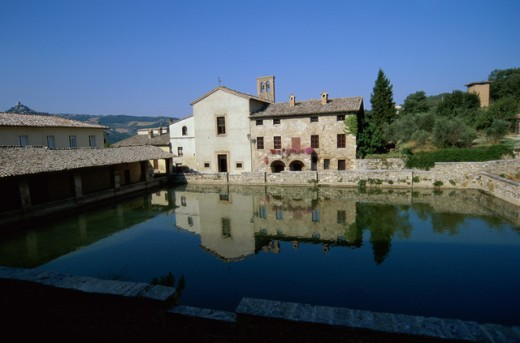 Roman Baths, Bagno Vignoni, Italy : Stock Photo