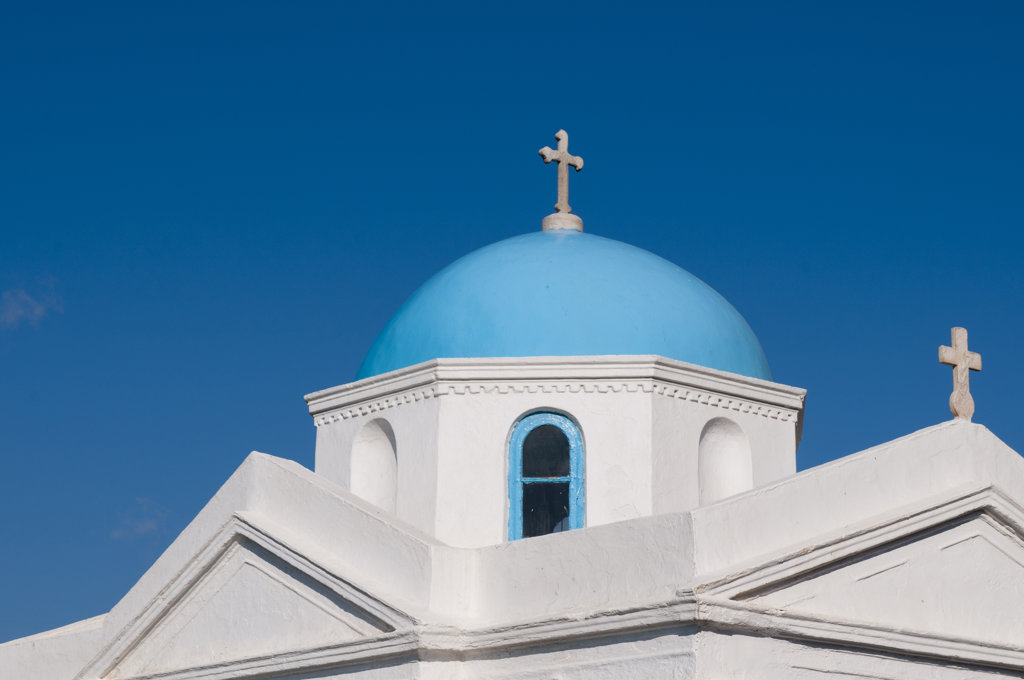 Stock Photo: 1345R-1927 Low angle view of a church, Mykonos Town, Mykonos, Cyclades Islands, Greece