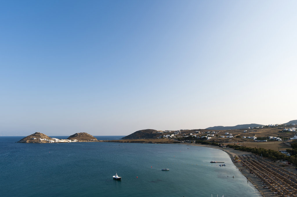 Cape Tarsanas and Kalafati Beach, Mykonos, Cyclades Islands, Greece : Stock Photo