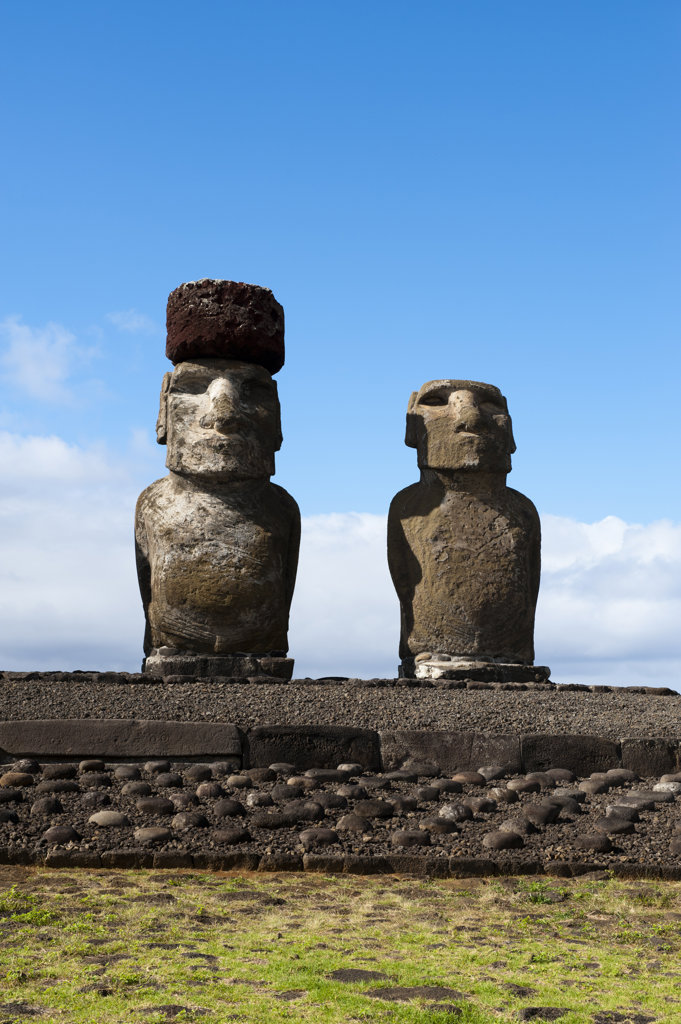 Stock Photo: 1345R-2008 Chile, Easter Island, Rapa Nui, Ahu Tongariki