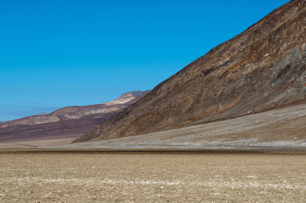Stock Photo: 1345R-2086 USA, California, Death Valley NP, Badwater Basin