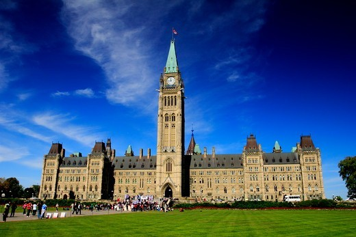 Canada, Ottawa, Ontario, Parliament building : Stock Photo