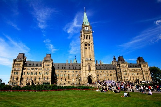 Stock Photo: 1346-1406 Canada, Ottawa, Ontario, Legislature of Province of Canada