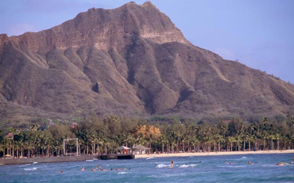 Stock Photo: 1346-440 Diamond Head Oahu Hawaii USA