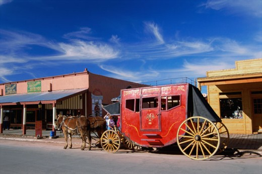 Stock Photo: 1346-497 Horse and wagon, Arizona, USA
