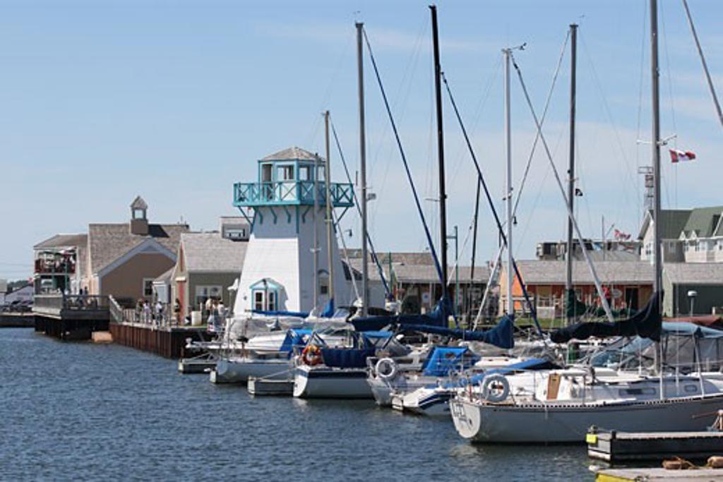 Stock Photo: 1346-831 Boats docked at a harbor, Summerside, Prince Edward Island, Canada