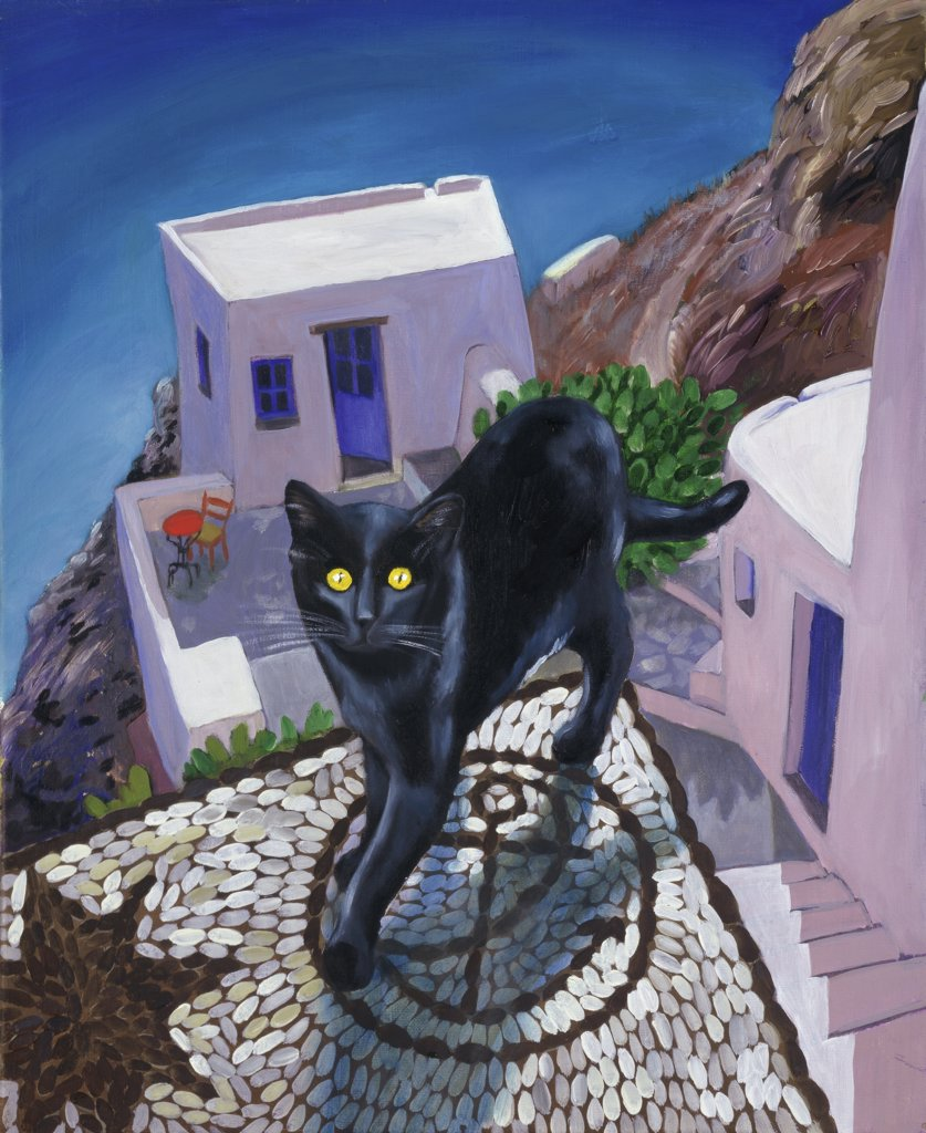Stock Photo: 1347-124 Cat Of Greece