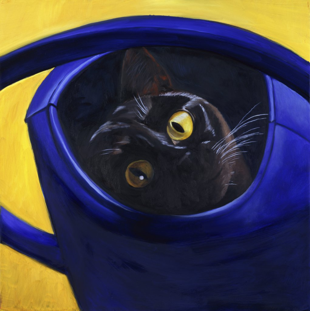 Cat in the Watering Can
