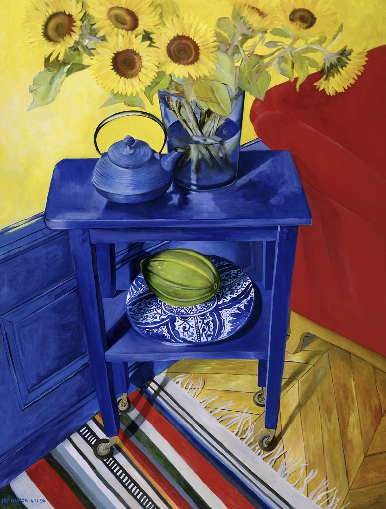 Stock Photo: 1347-202 Sunflowers and Melon of Spain