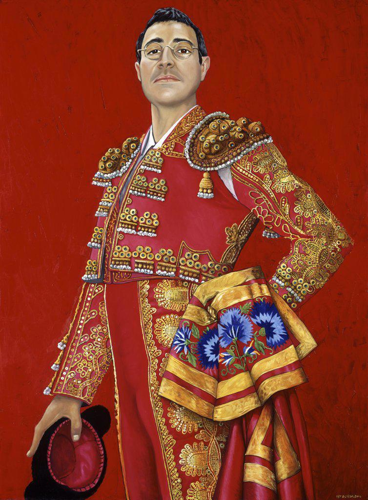Toreador  2000 Isy Ochoa (b.1961 French) Oil on canvas : Stock Photo