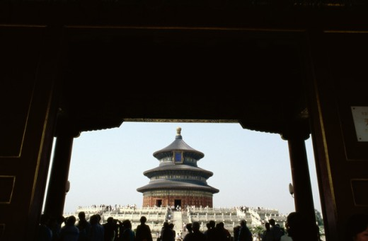 Stock Photo: 1350R-312 People at the Temple of Heaven, Beijing, China