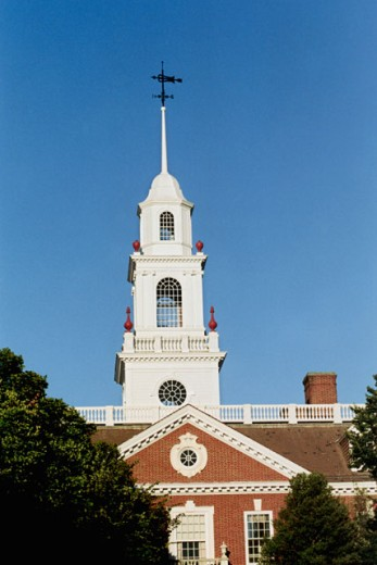 Stock Photo: 1365-175 Facade of Legislative Hall, Dover, Delaware, USA