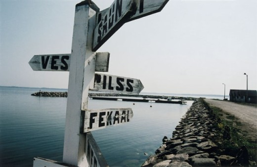 Sign board at Saaremaa Island, Estonia : Stock Photo