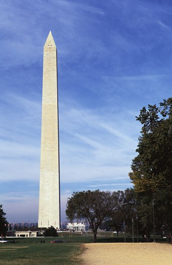 Stock Photo: 1370-41997 Low angle view of a monument, Washington Monument, Washington DC, USA