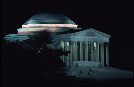 Facade of a memorial, Jefferson Memorial, Washington DC, USA : Stock Photo