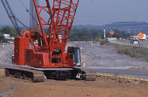 Stock Photo: 1370-42235 Crane at a construction site