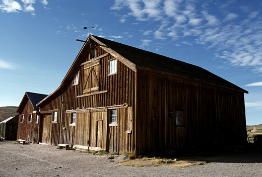 Facade of an abandoned building, Bodie State Historic Park, California, USA : Stock Photo