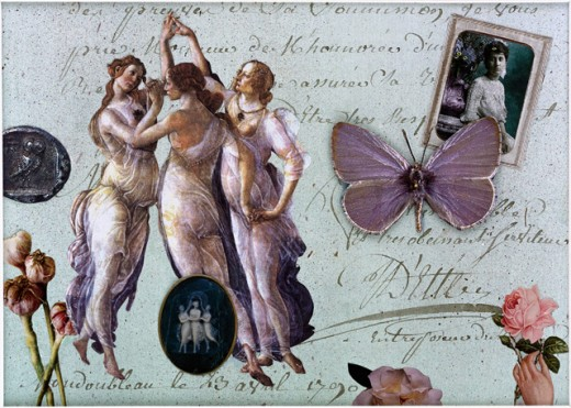 Stock Photo: 1376-525 The Three Graces I  2000 Gerry Charm (20th C./American) Collage