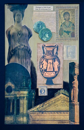 Ode on a Grecian Urn, Collage by Gerry Charm, 2009 : Stock Photo