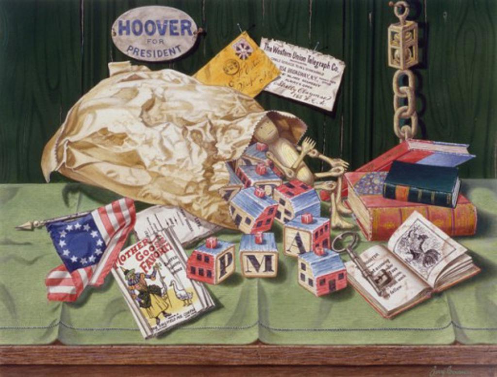 Old Stuff 2001 Jerry Grossman (20th C./American) Watercolor  : Stock Photo