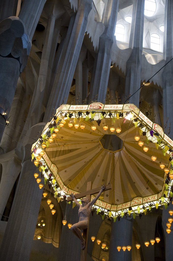 Stock Photo: 1380-1284 Spain, Catalonia, Barcelona, Architectural details of Sagrada Familia