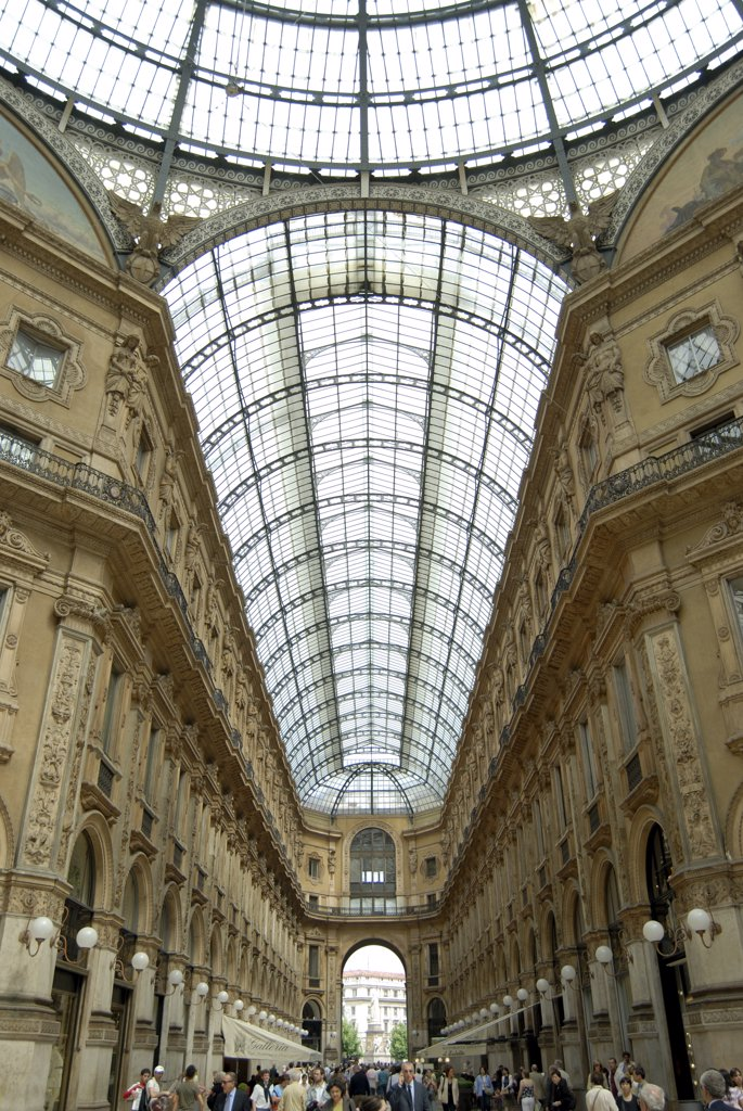Stock Photo: 1380-706 Interior of a shopping mall, Galleria Vittorio Emanuele II, Milan, Lombardy, Italy