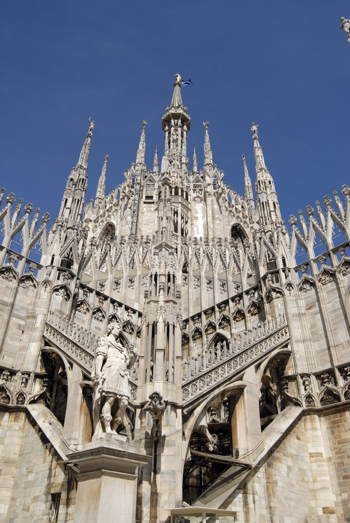 Stock Photo: 1380-709 Low angle view of a church, Duomo, Milan, Lombardy, Italy