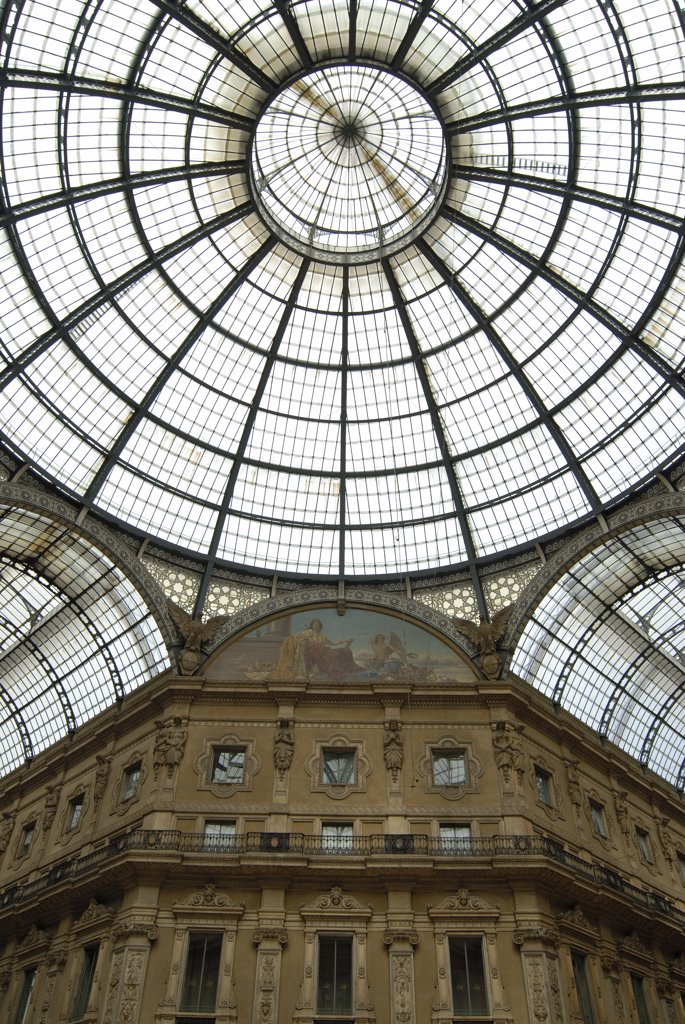 Stock Photo: 1380-715A Low angle view of the ceiling of a shopping mall, Galleria Vittorio Emanuele II, Milan, Lombardy, Italy
