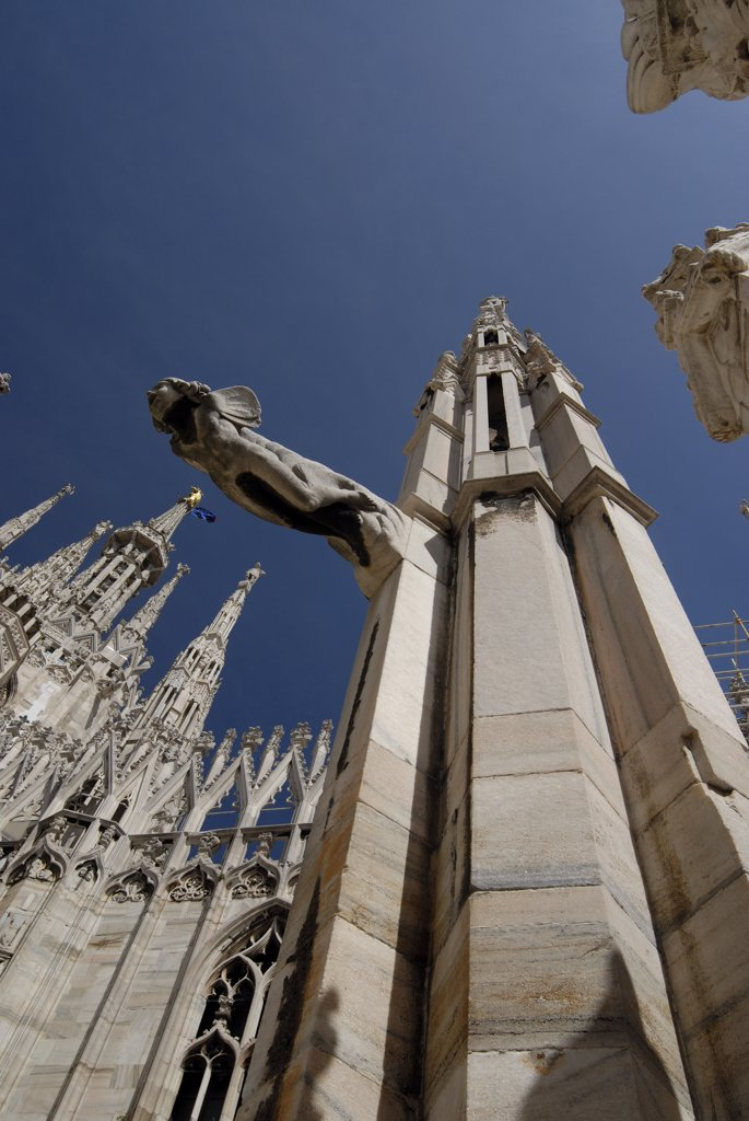 Stock Photo: 1380-716A Low angle view of a church, Duomo, Milan, Lombardy, Italy