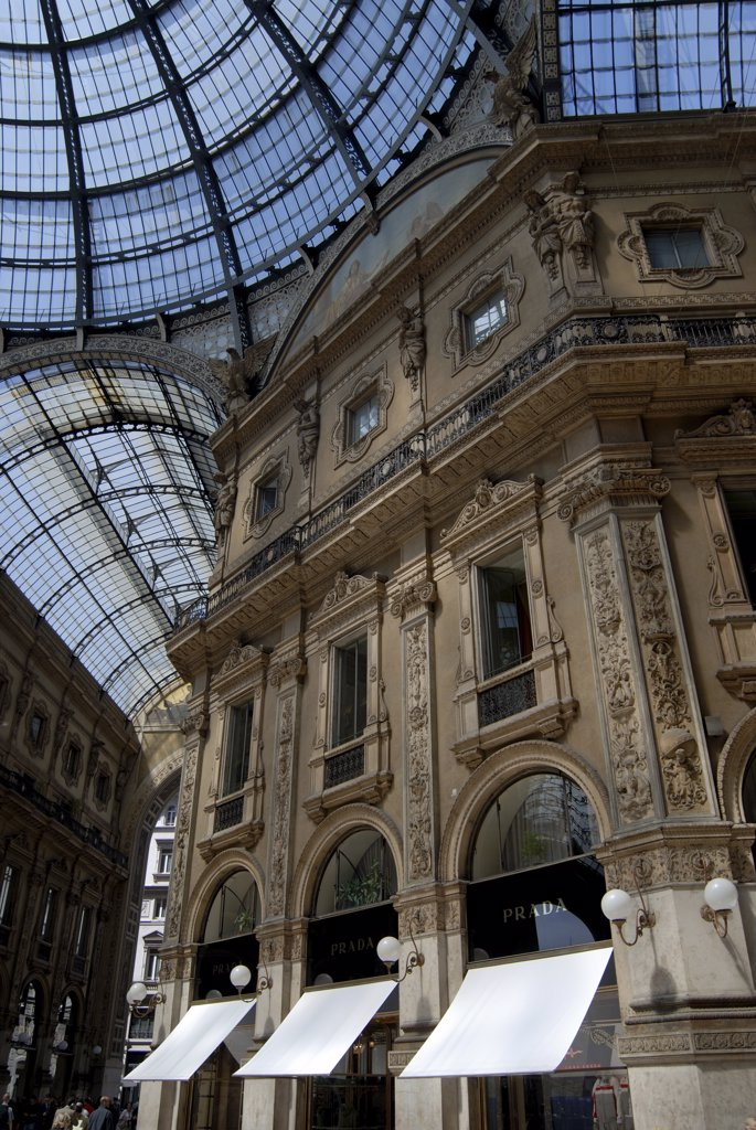 Stock Photo: 1380-717A Interior of a shopping mall, Galleria Vittorio Emanuele II, Milan, Lombardy, Italy