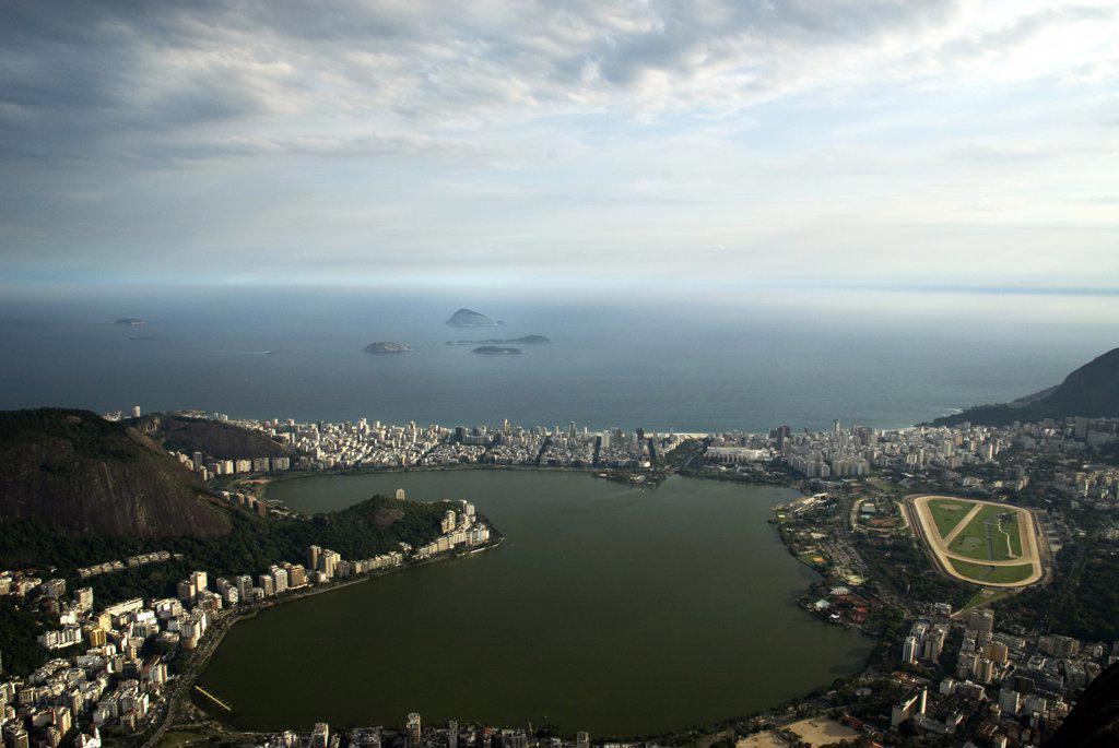 Aerial view of a cityscape, Rio de Janeiro, Brazil : Stock Photo