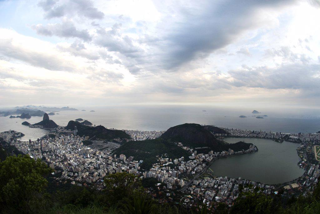 Stock Photo: 1380-883 Aerial view of a cityscape, Rio de Janeiro, Brazil