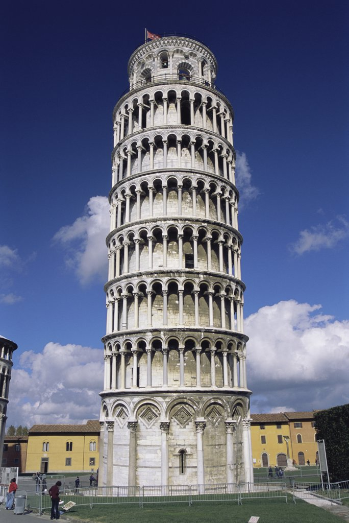 Stock Photo: 1380R-469 Low angle view of the Leaning Tower of Pisa, Pisa, Italy