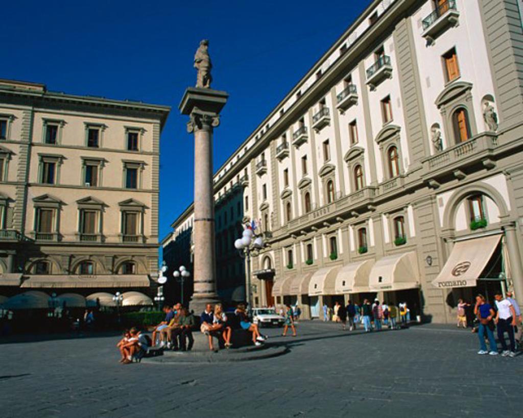 Stock Photo: 1397R-33071 Piazza della Repubblica Florence Italy