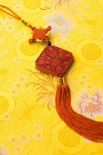 Stock Photo: 1397R-69858 Chinese-style Decoration on traditional cloth