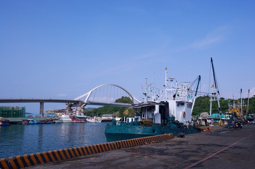 Stock Photo: 1397R-70003 Taiwan, Yilan, Suao Town, Nanfangao, Fishing Harbor