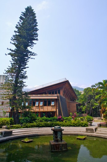 Stock Photo: 1397R-70313 Taipei Public Library, Beitou Branch, Green Building, Beitou, Taipei, Taiwan