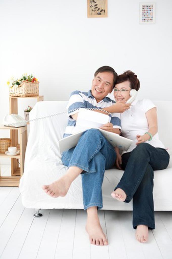 Stock Photo: 1397R-71220 Senior couple enjoying their retired life