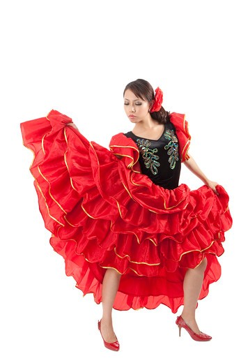 Stock Photo: 1397R-72059 Female flamenco dancer