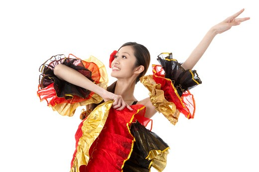 Stock Photo: 1397R-72061 Female flamenco dancer