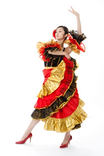 Stock Photo: 1397R-72065 Female flamenco dancer