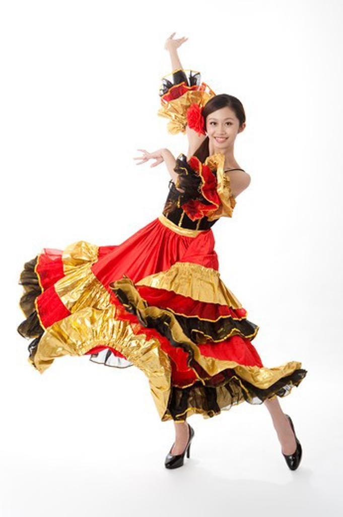 Stock Photo: 1397R-72074 Female flamenco dancer