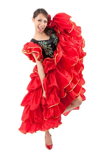 Stock Photo: 1397R-72081 Female flamenco dancer