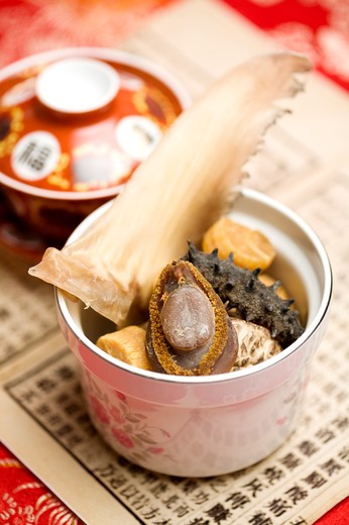 Abalone, Sea Cucumber, Scallop, Champignon : Stock Photo
