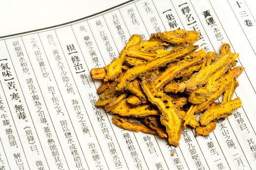 Golden Thread, Chinese Herbal Medicine : Stock Photo