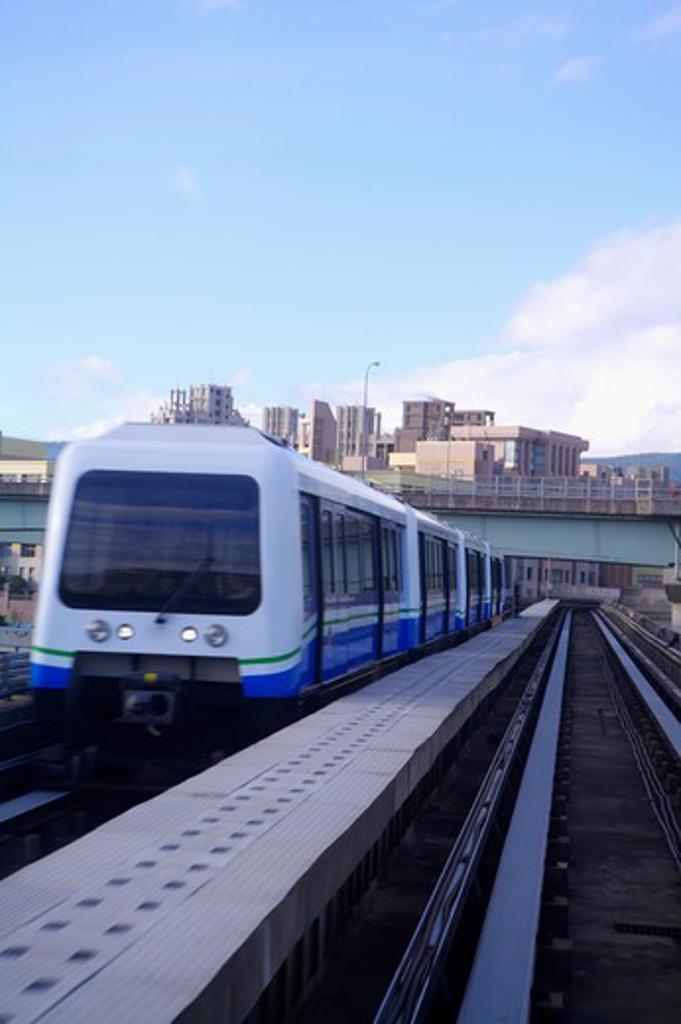 Stock Photo: 1397R-72585 Taiwan, Taipei, Neihu, Taipei MRT, Wenshan-Neihu Line