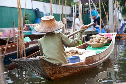 Thailand, Bangkok, Floating Market : Stock Photo