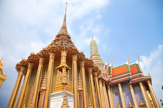 Thailand, Bangkok, Grand Palais, Wat Phra Kaeo : Stock Photo
